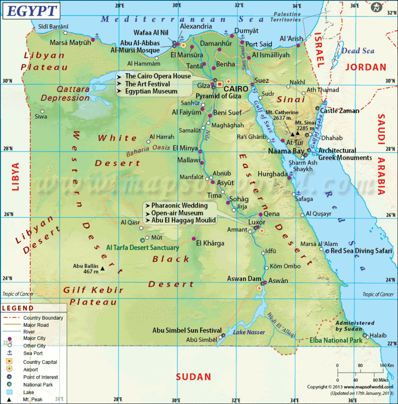 The distorted map of Egyptaction demanded Egypt