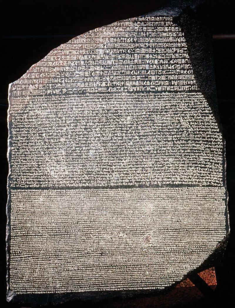 Rosetta-Stone-basalt-slab-Fort-Saint-Julien-Egypt-196-bce